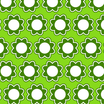 Green Vector Flower Pattern - Free vector #202761