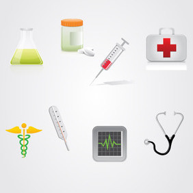 Medicine Icon Pack - vector gratuit #202791