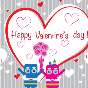 Happy Valentines Day Sweeties - vector gratuit #202931