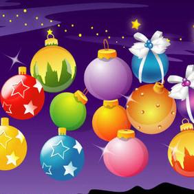 Vector Christmas Balls - vector gratuit #202951