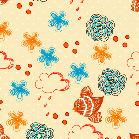 Free Vector Seamless Floral Pattern - Free vector #202991