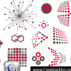 Abstract, Creative Logo Design Elements - Free vector #203011