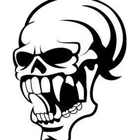 Skull Vector Clip Art - Free vector #203081