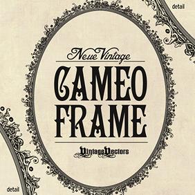 Neue Vintage Cameo Frame Oval Vector - Kostenloses vector #203111