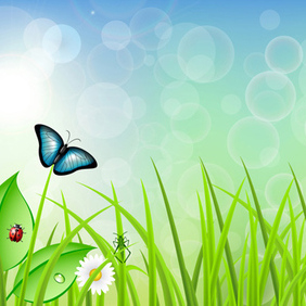 Vector Spring Background - vector gratuit #203141