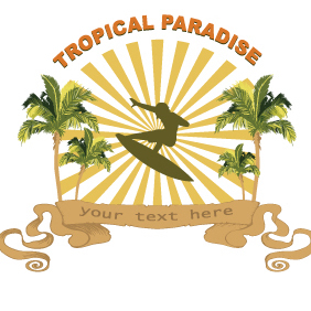 Tropical Illustration 65 - vector gratuit #203171