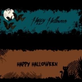 Halloween Banners 1 - Free vector #203221