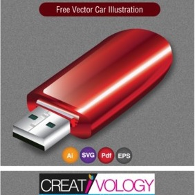 Free Vector Usb Drive - Free vector #203311