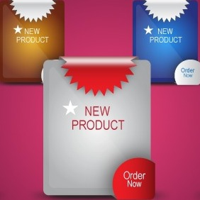 New Product Label - Vector - Free vector #203461