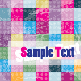 Colorful Cubes Background Card Design - Free vector #203481