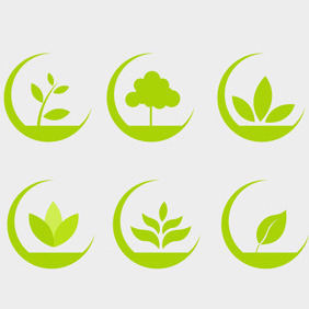 Free Vector Of The Day #87: Eco Icons Set - Kostenloses vector #203981