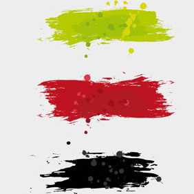 Free Vector Of The Day #84: Paint Brush Strokes - vector #204011 gratis