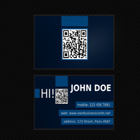 Business Card With QR Code - vector gratuit #204131