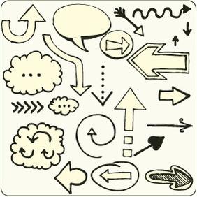 Doodle Arrows 8 - Free vector #204161