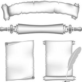 Vinatge Paper Scrolls - Kostenloses vector #204171