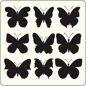 Butterflies 12 - vector gratuit #204521