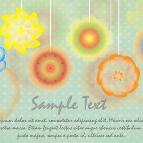 Watercolor Flowers Card Design - Free vector #204541