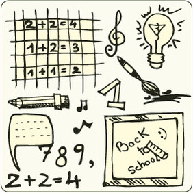 Doodle School 3 - Free vector #204631