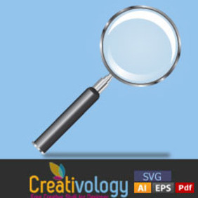 Free High Quality Magnify Glass Vector - Free vector #204691