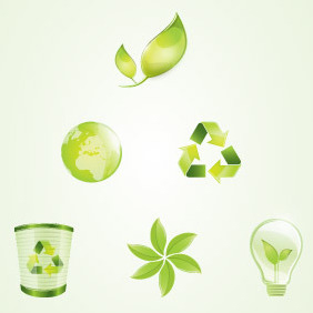 Eco Vector Logo Elements - vector gratuit #204731