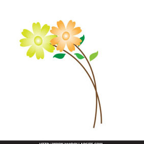 Free Simple Flower Vector - Free vector #205001