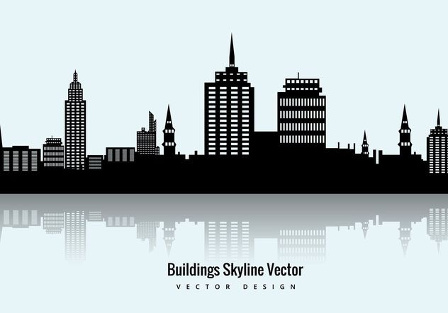 Buildings Skyline Vector - vector #205111 gratis