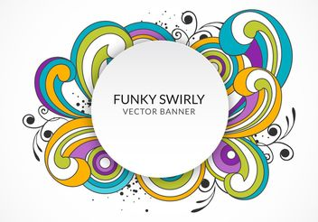 Funky Swirly Banner - vector gratuit #205121