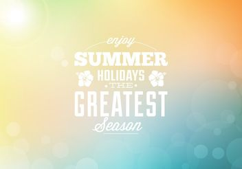 Summer Holidays Background - Kostenloses vector #205151