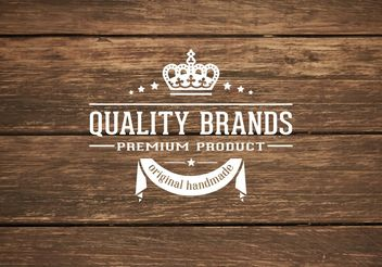 Wooden Background With Retro Label - vector gratuit #205201