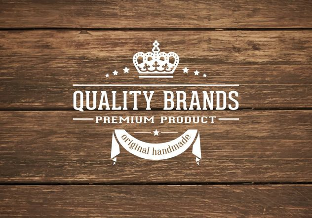 Wooden Background With Retro Label - Free vector #205201