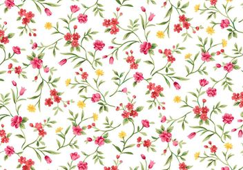Watercolor Floral Seamless Background - vector gratuit #205211