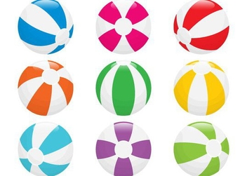 Beach Ball Vectors - Free vector #205231