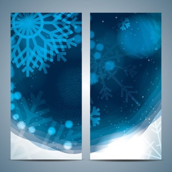 Snowflake Banners - Free vector #205261