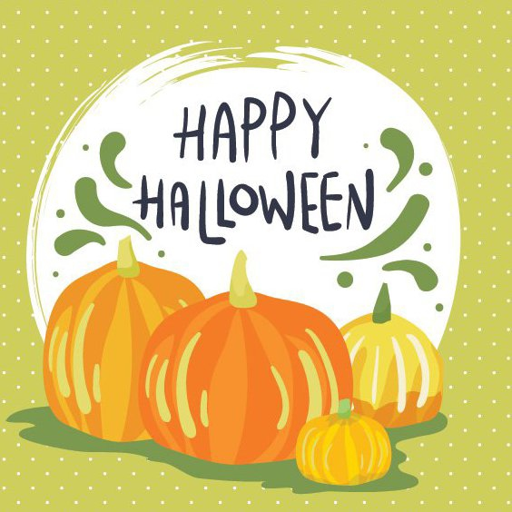 Happy Halloween-Karte - Free vector #205301