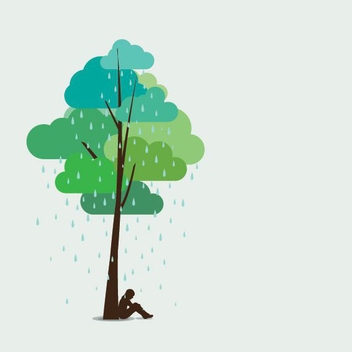 Rainy Afternoon - vector gratuit #205451