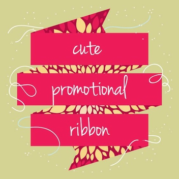 Cute Promotional Ribbon - vector gratuit #205511