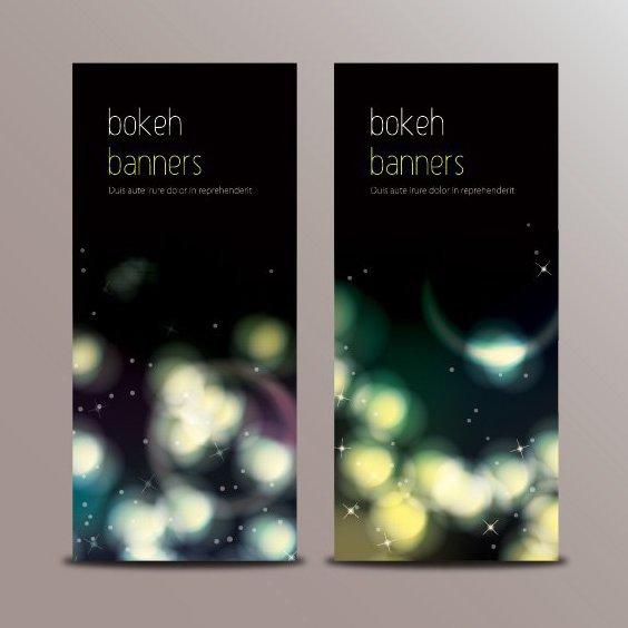 Bokeh Banners - vector gratuit #205641
