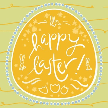 Happy Easter Card - vector #205751 gratis