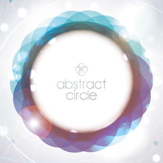 cercle abstrait - vector gratuit #205771