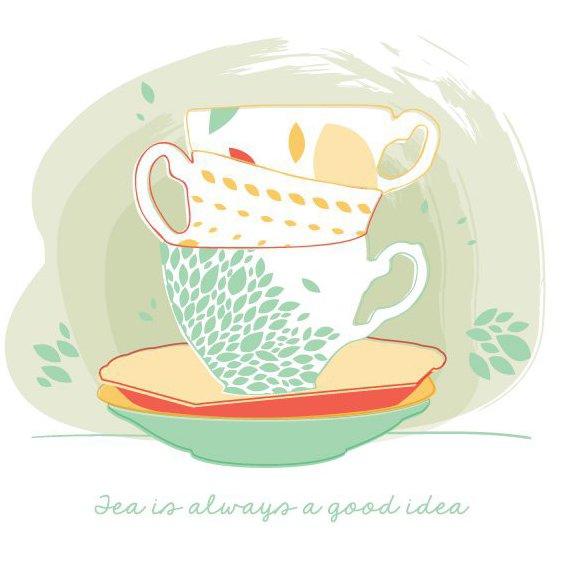 Чай-это всегда хорошая идея - Free vector #205781
