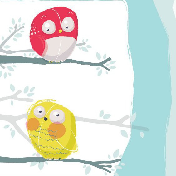 Cute Owls - Free vector #205821