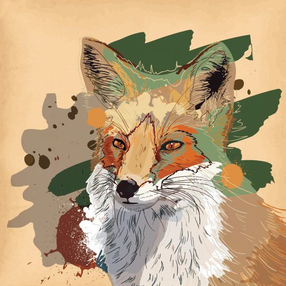 Brown Fox - Free vector #205851