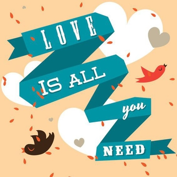 Love Is All You Need - vector gratuit #205861
