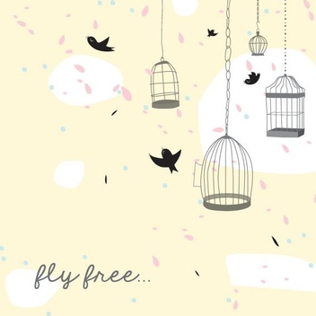 Bird Cages - Free vector #205881