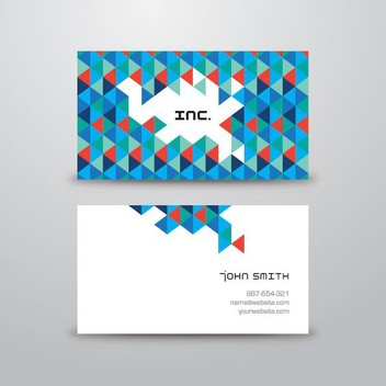 Triangular Business Card - vector #205911 gratis
