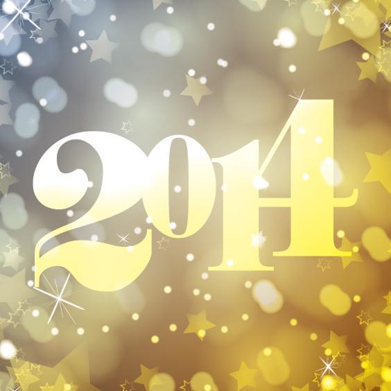 Nous vous souhaitons un Golden 2014 - vector gratuit #205951