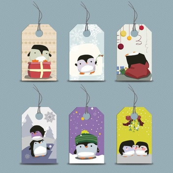 Penguin Tags - vector gratuit #205981