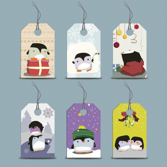 Penguin Tags - Free vector #205981