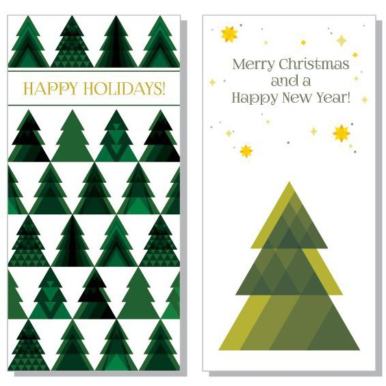 Christmas Trees - Free vector #206031