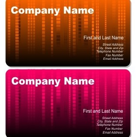 Abstract Rain Business Cards - vector gratuit #206121